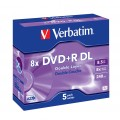 DVD+R DL  Grabable 8.5Gb Paquete 5